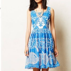 Anthro Plenty by Tracy Reese Azure Lace Dress